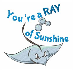 Ray Of Sunshine embroidery design