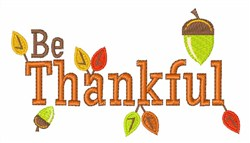 Be Thankful embroidery design