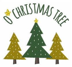 O Christmas Tree embroidery design