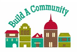 Build A Community embroidery design