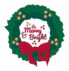 Merry & Bright embroidery design