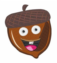Funny Acorn embroidery design