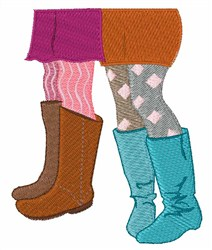Girls Boots embroidery design