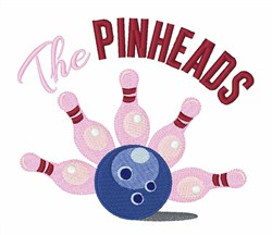 The Pinheads embroidery design