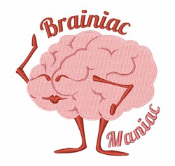Bainiac Maniac embroidery design