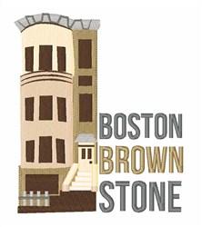 Boston Brownstone embroidery design