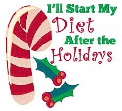 Start My Diet embroidery design