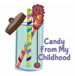 Candy From Childhood embroidery design