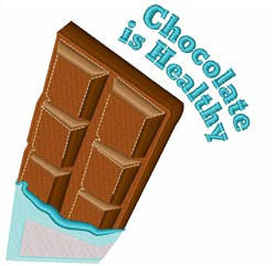 Chocolate Is Healthy embroidery design