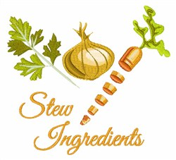 Stew Ingredients embroidery design