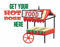Hot Dogs Here embroidery design