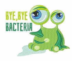 Bye Bye Bacteria embroidery design