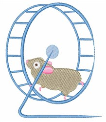 Hamster Wheel embroidery design