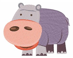 Hippo embroidery design