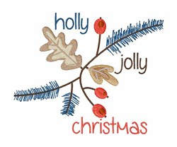 Holly Jolly Christmas embroidery design