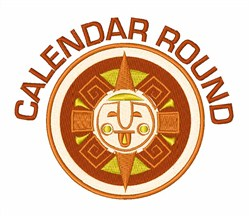 Calendar Round embroidery design
