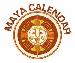 Maya Calendar embroidery design