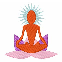 Yoga embroidery design
