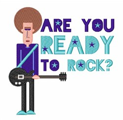 Ready To Rock embroidery design