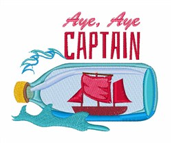 Aye Aye Captain embroidery design