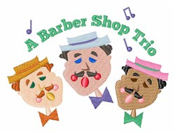 Barber Shop Trio embroidery design