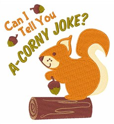 A Corny Joke embroidery design