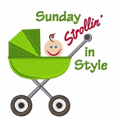 Strollin In Style embroidery design