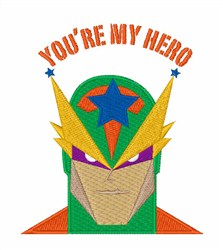 Youre My Hero embroidery design