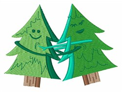 Happy Trees embroidery design