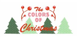 Colors Of Christmas embroidery design