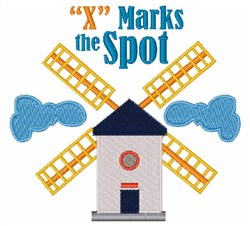 X Marks Spot embroidery design