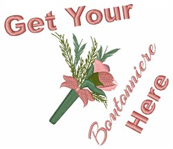 Get Your Boutonniere embroidery design