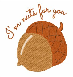 Nuts For You embroidery design