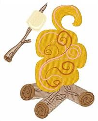 Roast Marshmallows embroidery design