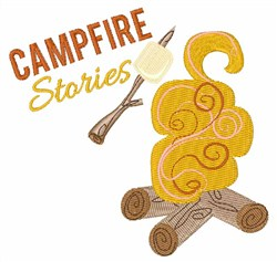 Campfire Stories embroidery design