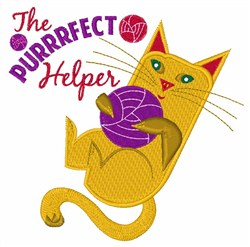 Purrrfect Helper embroidery design