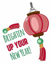 Brighten New Year embroidery design