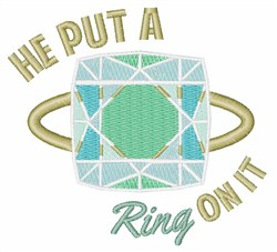 Put Ring On It embroidery design