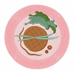 Plate Of Food embroidery design