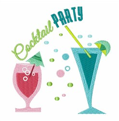 Cocktail Party embroidery design