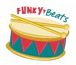 Funky Beats embroidery design