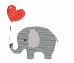 Love Elephant embroidery design