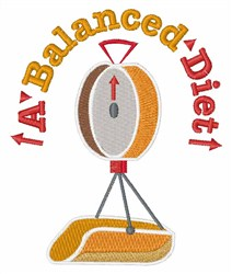 Balanced Diet embroidery design