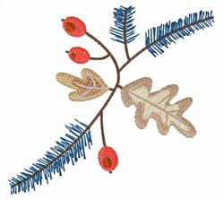 Holiday Foliage embroidery design