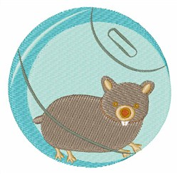 Hamster Ball embroidery design