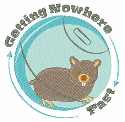 Getting Nowhere embroidery design