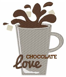 Chocolate Love embroidery design
