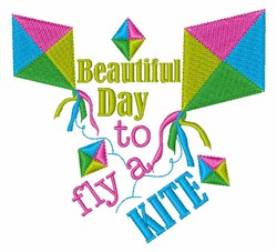 Fly A Kite embroidery design