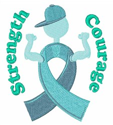 Strength Courage embroidery design