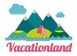 Vacation Land embroidery design